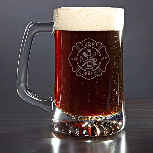 Firefighter Personalized Beer Mug (Customizable Product)