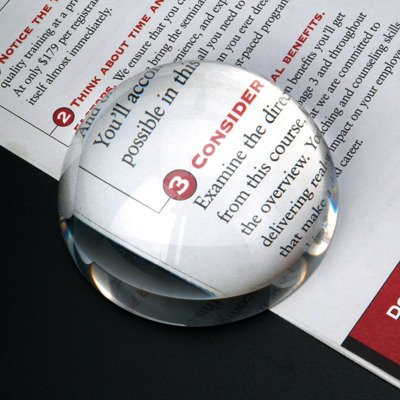 Elegance 1 X Paperweight Magnifier - Dome Magnifier/Paperweight, 3.25