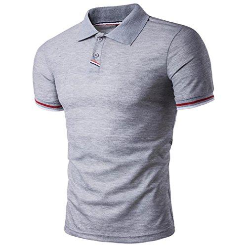 ポロシャツ ボーダー 立ち襟 半袖シャツ 夏 トップス 無地 ゴルフウェア ストリート系 カットソー 通勤通学 カジュアル メンズ 上着 大きいサイズ S-2XL