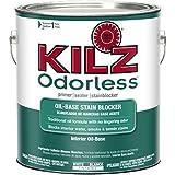 KILZ Odorless Interior Oil-Base Primer/Sealer/Stainblocker, White, 1-gallon