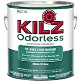 KILZ Odorless Interior Oil-Base Primer/Sealer/Stainblocker, White, 1-gallon