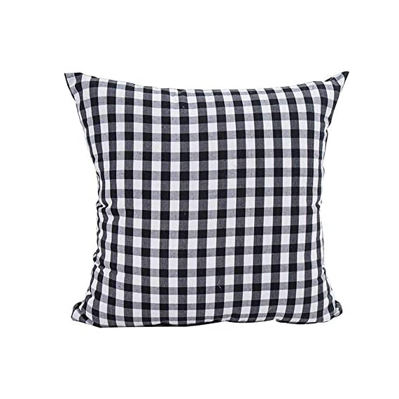HOPLEE Outdoor Pillow Covers 20x20 Black and White Pillow Covers Buffalo Plaid Stripe and Gingham Design Set of 4 - 1.Black Throw Pillow Covers Size: 20x20 inch / 50x50cm(1-2cm deviation).This set comes with 4 pieces pillow covers,NO PILLOW INSERTS INCLUDED. 2.This set decorative pillow covers with 4 pieces black and white geometric pillow covers, the same on two sides. 3.20 x 20 pillow covers are matched with the invisible zipper. Disassemble freely, convenient to change. Help you decor your home more gorgeous with these farmhouse pillow covers. - patio, outdoor-throw-pillows, outdoor-decor - 516 guUwPqL. SS570  -