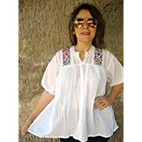 Blusa Bordada Mexicana Casual para Playa