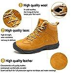 Axcone Homme Femme Chaussures Trekking Randonnée Bottes de Neige Hiver Imperméable Outdoor Boots Fourrure Cuir… 10