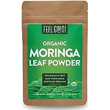 Organic Moringa Leaf Powder - 4oz Resealable Bag - 100% Raw From India - by Feel Good Organics