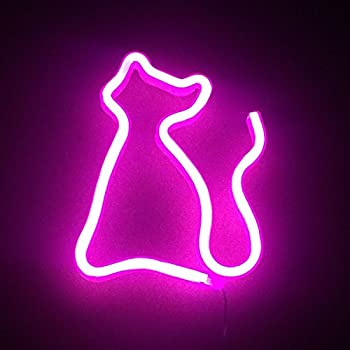 Cat Neon Signs Led Decor Light Wall Decor For Christmas
