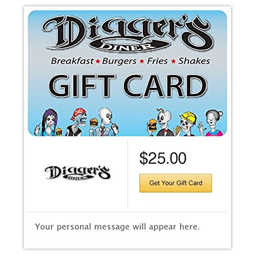Discount Gift Certificates (Digger's Diner Gift Cards - E-mail Delivery)