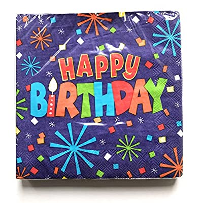 Happy Birthday Plates and Napkins Sets - Very Cute Sets of Happy Birthday Theme Paper Plates and Napkins - Multiple Themes Sizes - Great Value: Kitchen & Dining