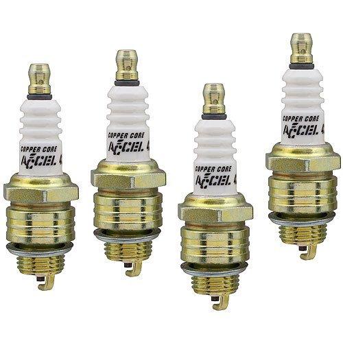 ACCEL 0437S-4 U-Groove Spark Plug Header Plug; 14mm Thread; .375 in. Reach; Heat Range 6; Gasket Seat; 13/16 Hex; Projected T ()