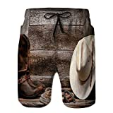 Men's Quick Dry Trunks,American West Rodeo Traditional Beach Shorts