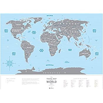 Amazoncom Scratch Map Deluxe Edition Personalized World Map - World map with states