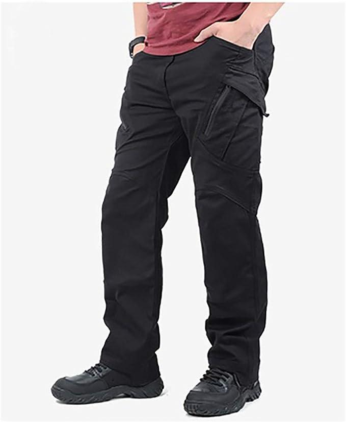 GooDoi Pantalon Cargo Pantalon De Combat pour Homme Pantalon De Plein Air Militaire pour Le Camping Randonn/ée Marche avec Genouill/ères