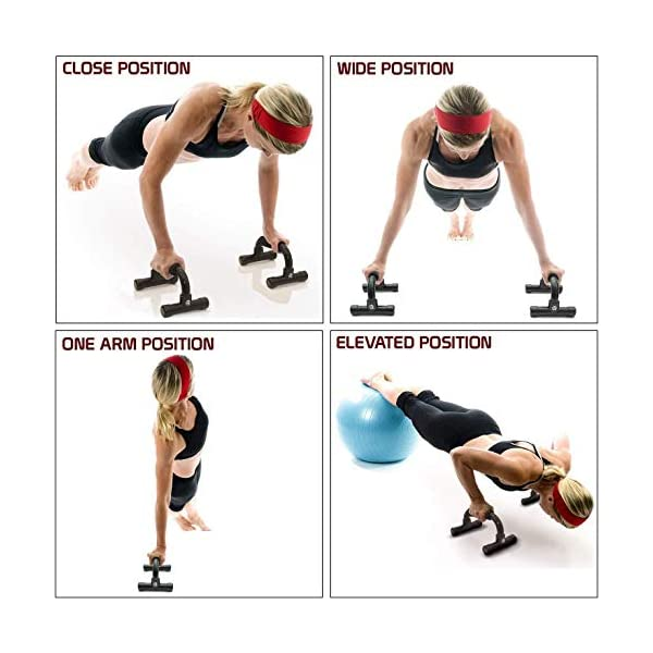 ZOSOE Push Up Bars Stand with Foam Grip Handle for Chest Press, Home Gym Fitness Exercise, Strength Training, Push Up… 2