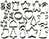StarPack Christmas Cookie Cutters Set 18pc Favorite Holiday Shapes Deal (Small Image)