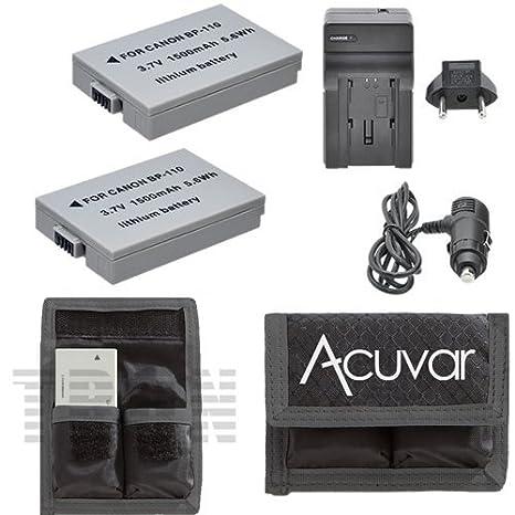 2 BP-110 Li-Ion Batteries + Car/Home Charger + Acuvar Battery