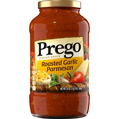 Prego Italian Pasta Sauce, Roasted Garlic Parmesan, 24 Ounce (Packaging May Vary) (Gluten Sauce Spaghetti Free And)