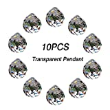 WEISIPU 30MM 10PCS DIY Clear Crystal Glass Ball Chandelier Prisms Pendants Beads for Wedding Home Office Decoration