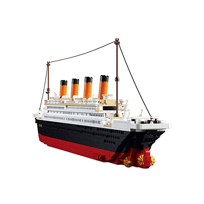 516 io6HmKL Kit de bloques de construcción Titanic, contiene 1021 bloques de piezas. Enorme conjunto! Construye un proyecto espectacular en casa, compatible con las principales marcas. La instrucción detallada del color, tiene un tiempo buidling feliz.