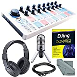 Arturia BeatStep USB/MIDI/CV Controller and Sequencer and Platinum Bundle w/ Samson Meteor USB Studio Mic & SR350 Headphones + Djing for Dummies + MIDI Cable + Fibertique Cloth