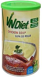 Sopa de pollo sustitutivo de una comida para adelgazar, alto en proteína. VNDiet