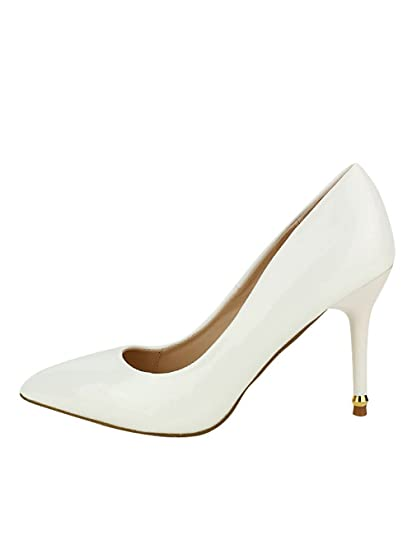 506f385ae098f3 Cendriyon, Escarpin Verni Blanc CEAKIS Chaussures Femme Taille 40:  Amazon.fr: Chaussures et Sacs