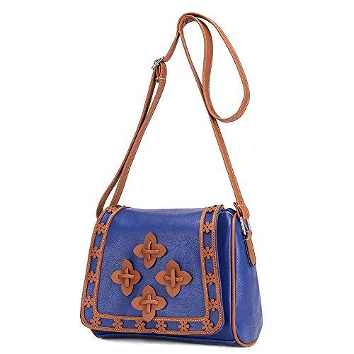 Satchel Bandoulière Sac Fourre À Messenger Bag Bleu tout Nouveau Épaule Cuir Femmes En Esailq qvgwHSx
