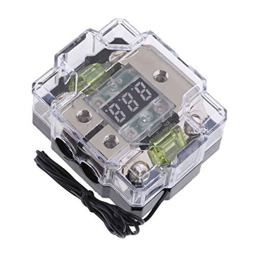 Homyl Universal 100A 2 Way Car Speakers Digital Fuse Blocks Circuit Breaker Distribution Holders LCD Easy Use
