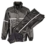 Milwaukee Performance Men's Water Resistant Rain Suit with Reflective Tape (Black, XXX-Large)