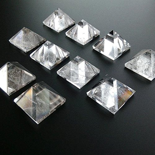 Oak Rock (1 Piece Natural Rock Crystal Quartz Pyramid Triangle 1 1/4)