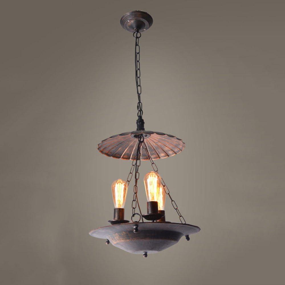 MTTK Loft Retro de Hierro Forjado araña Vintage brasero lámpara de Techo decoración lámpara Colgante de 3 Cabezas