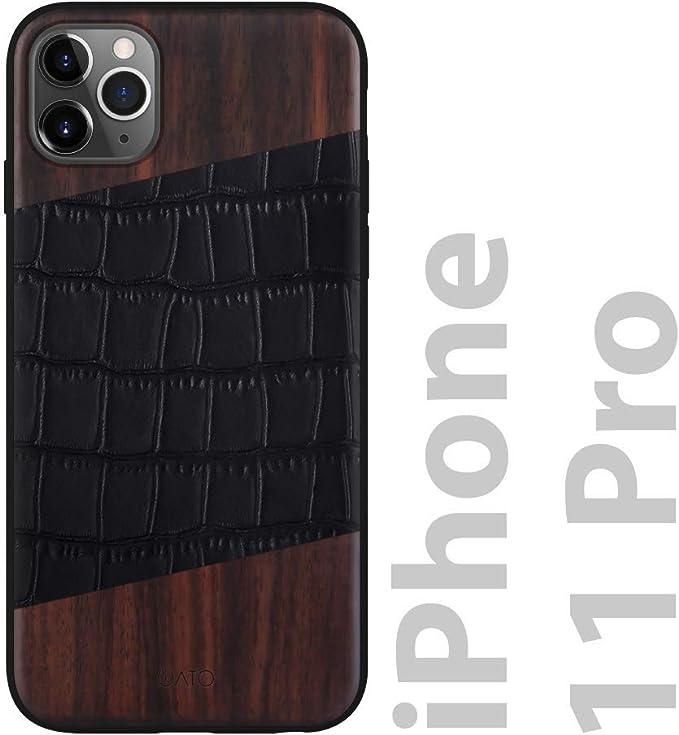Custodia in Pelle trama coccodrillo iPhone 6S/6 Plus Nera
