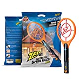 ZAP IT! Mini Bug Zapper - Rechargeable Mosquito, Fly Killer and Bug Zapper Racket - 4,000 Volt - USB Charging,...