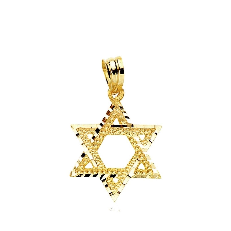 Colgante oro k estrella de David mm AB
