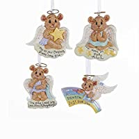 Kurt Adler 3.75-Inch Resin Bearly Angels Ornament Set of 4