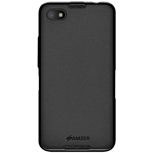 Amzer Pudding TPU Skin Fit Case Cover for BlackBerry Z30 Z 30 - Retail Packaging - Black