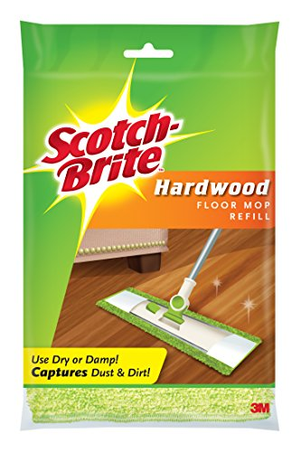 Cloth Brite Cleaning Scotch Microfiber - Scotch-Brite Microfiber Hardwood Floor Mop Refill, 1-Count
