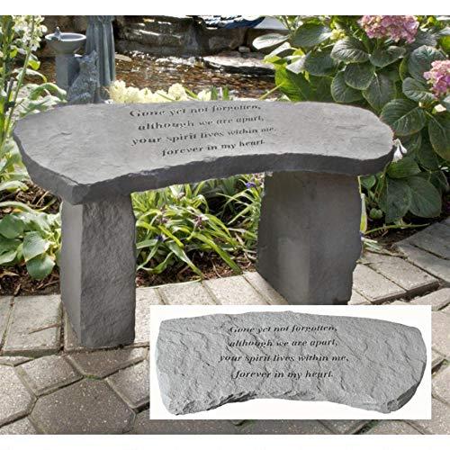 Design Toscano Gone Yet Not Forgotten Cast Stone Memorial Garden Bench