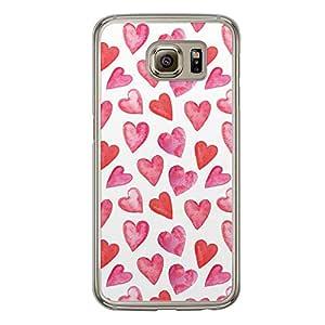 Loud Universe Samsung Galaxy S6 Love Valentine Printing Files A Valentine 51 Printed Transparent Edge Case - White/Red