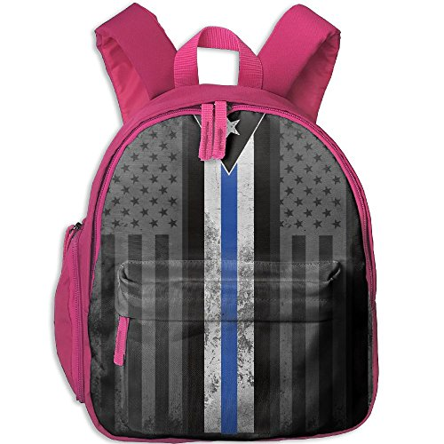 (Toddler Pre School Backpack Boy&girl's USA Puerto Rico Thin Blue Line Flag Book Bag)