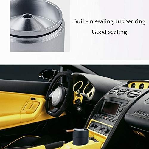 カー灰皿、車のホームオフィス、屋外での使用のための耐火自動的に消灯アンブレイカブル灰皿,ブルー