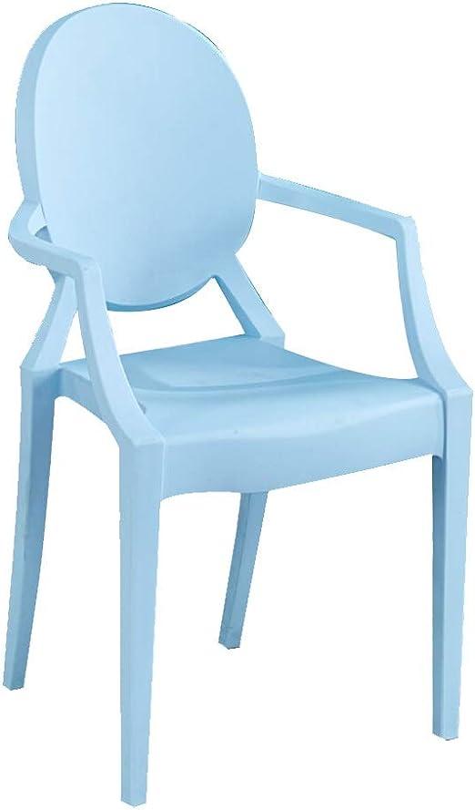 LXQGR Sillas de jardín de plástico Asiento en PP y PU, Respaldo ergonómico, La Silla con Capacidad para soportar 100 kg máx. (Color : Blue): Amazon.es: Hogar