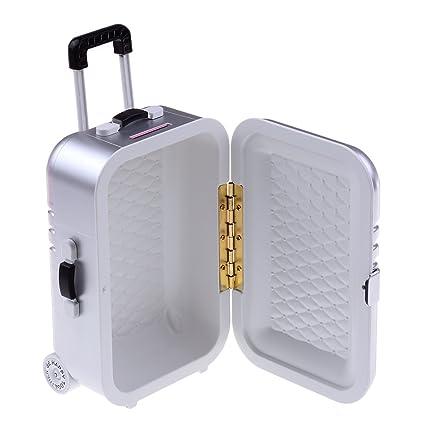 b10369cc60d9 Amazon.com: 37YIMU Toy Suitcase Plastic Rolling Suitcase Mini ...