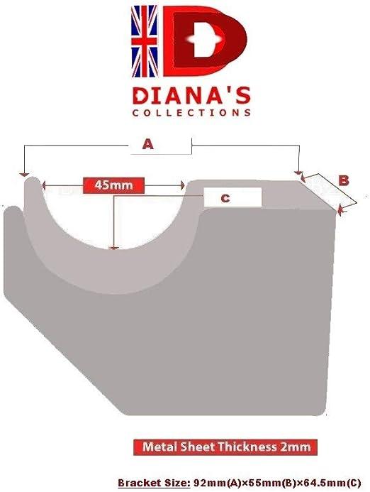 Support pour radiateur /émetteur thermique Type : fixation murale triangulaire pour chauffage mural /Étag/ères pour radiateurs /électriques Lot de 2 radiateurs /à eau Doja Industrial etc.