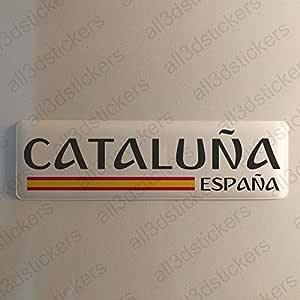 Pegatina Cataluña España Resina, Pegatina Relieve 3D Bandera ...