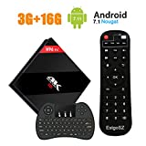 [Powerful 2018 TV BOX] H96 Pro Plus Android 7.1 TV Box 3G RAM + 16G ROM Amlogic S912 Octa Core Smart BOX Dual WiFi 2.4G/5.8GHz Bluetooth 4.1 with Wireless Keyboard