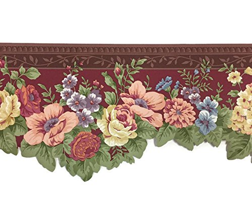 Floral Laser Cut Floral Wallpaper Border Waverly no. 5503581