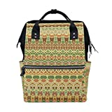 Backpack School Bag Africa Art Canvas Travel Doctor Style Daypack