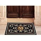 Edinburgh Estate Doormat - Monogrammed Black & Suede M 2 x 3