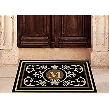 mats home today shipping estate monogrammed free brown nuloom product x mat overstock coir welcome door garden