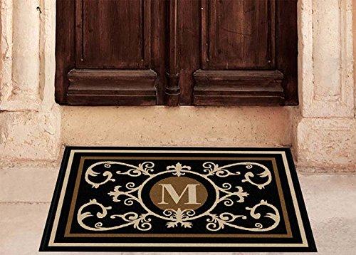 Edinburgh Estate Doormat - Monogrammed Black & Suede M 2 x (Black Suede Mat)